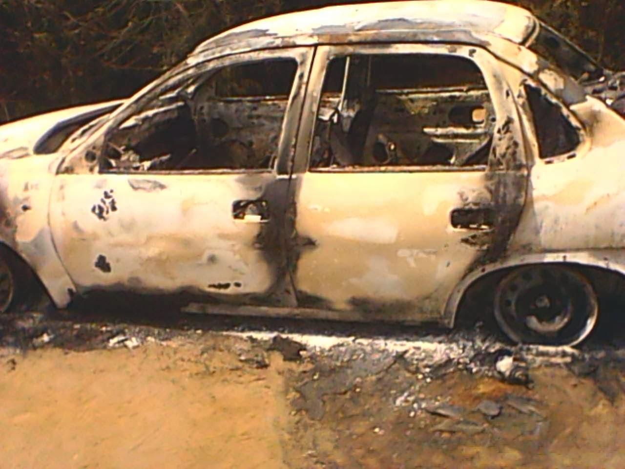 carro queimado belo campo