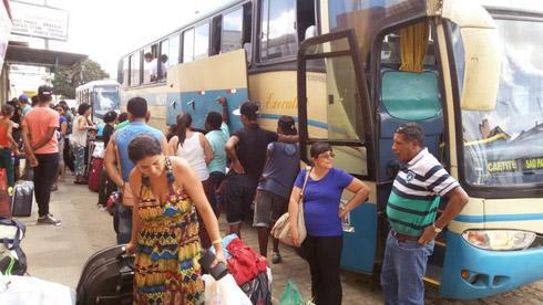 passagerios desistem viagem belo campo