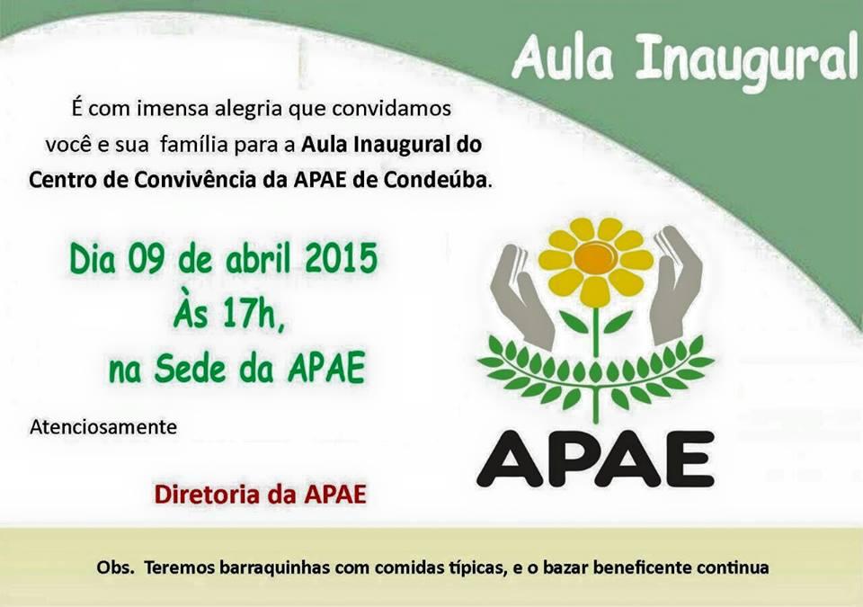 aula inaugural apae