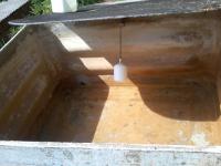 caixa de agua vazia em irundiara