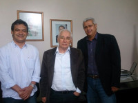 Hélio Fortunato, Guilherme Menezes e Guto Ribeiro. Foto: Dermeval Filho – Portal da Transparência | Governo de Condeúba