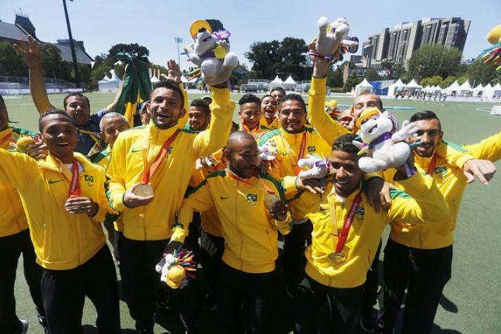 Futebol de 7 conquistou título sobre Argentina. (CPB/Divulgação)