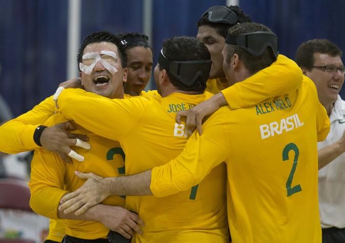 Goalball confirmou favoritismo e venceu EUA por 10 a 4. (CPB/Divulgação)