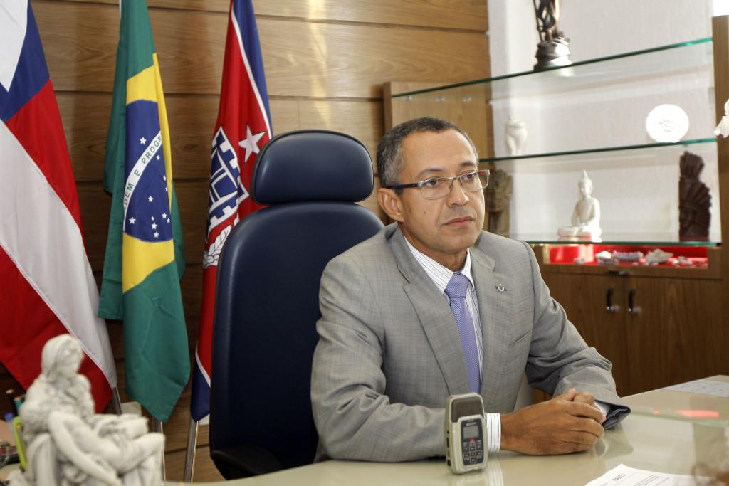 Avaliação de produtividade individual dos delegados da Polícia Civil  Na foto: Bernadino Brito Filho, Delegado Geral da Polícia Civil Foto: Pedro Moraes/GOVBA