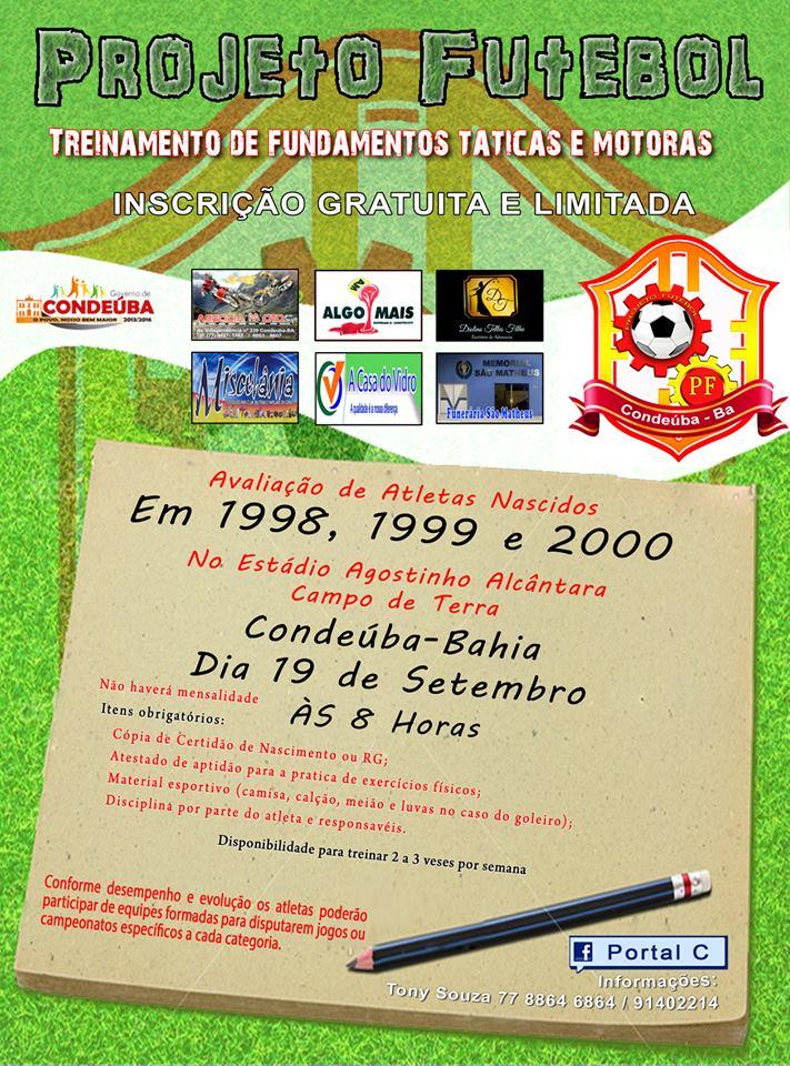 projeto futebol condeuba