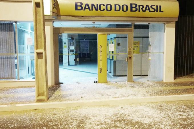 banco destruido em caetite