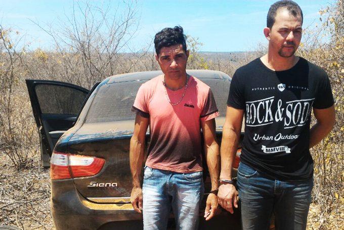 Receptadores fora presos pela polícia em Caculé.